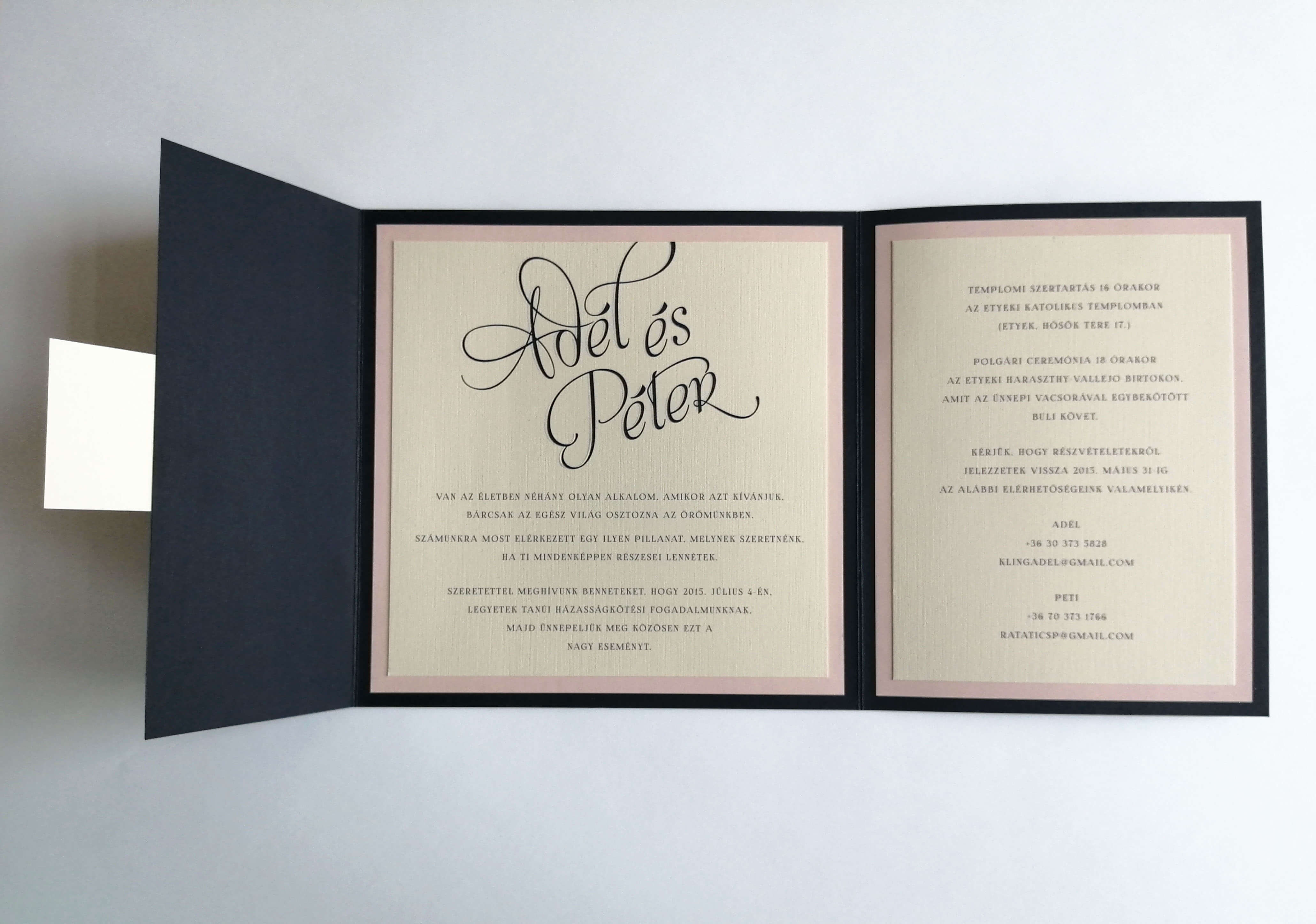 Esküvői meghívók nyomtatása
